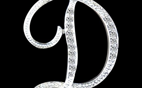 Elegantní brož - písmena