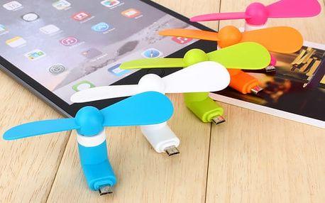 Mini větráček pro telefony - 5 barev