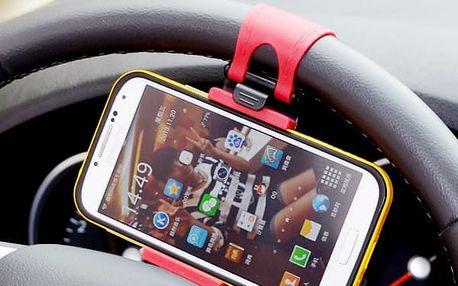 Mobilní držák na volant auta