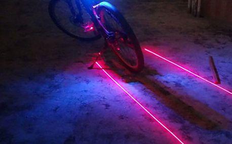 Zadní LED osvětlení na kolo s laserem