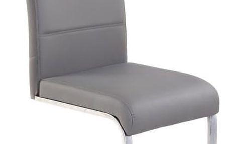 Kovová židle K85 šedá