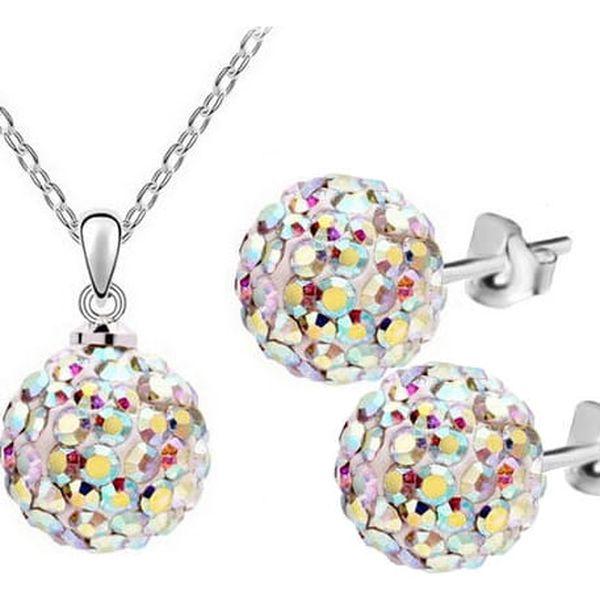 Sada náhrdelník a náušnice s kuličkami - souprava bižuterie