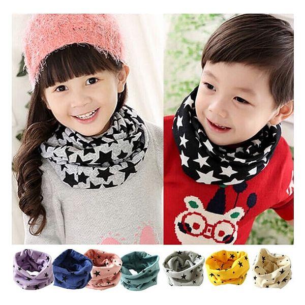 Šátek s hvězdičkami pro děti - výběr z několika barev