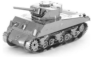 3D kovové puzzle - tank Sherman