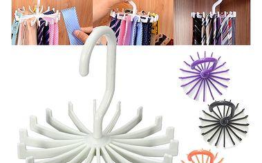 Otočný věšák na šátky či kravaty
