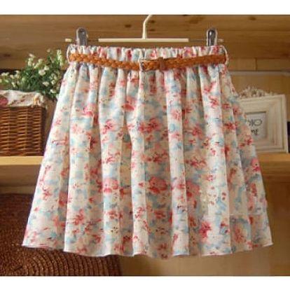 Retro sukně s páskem v mnoha romantických vzorech!