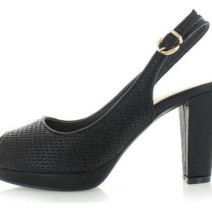 Černé sandály Kandys