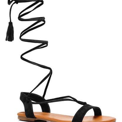 Dámské černé sandály Agatha 1041