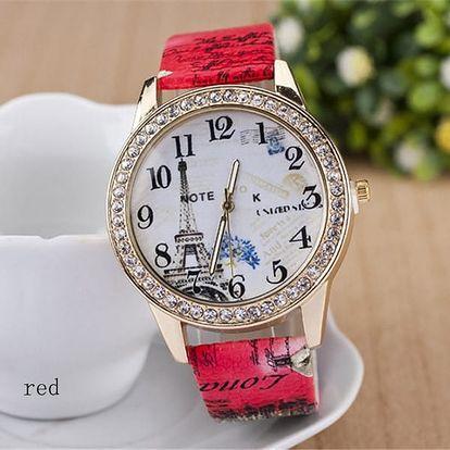 Dámské hodinky s motivem Eiffelovy věže