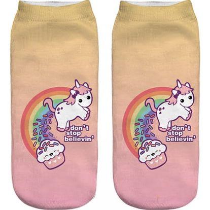 Krátké dámské ponožky s roztomilým potiskem - 21 variant