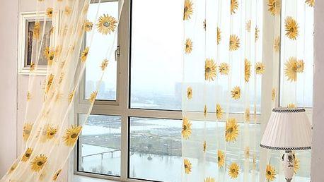 Dlouhý závěs se slunečnicemi v různých velikostech - 5 barev