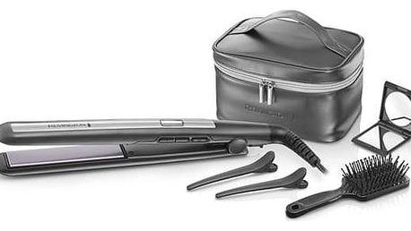Žehlička na vlasy Remington PRO Ceramic Titanium S5506GP šedá + Doprava zdarma