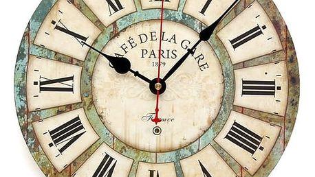 Vintage nástěnné hodiny s římskými číslicemi