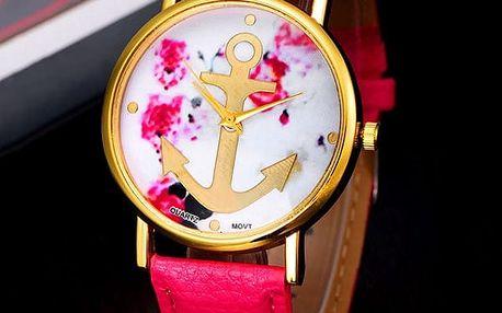 Jemné hodinky s kotvou