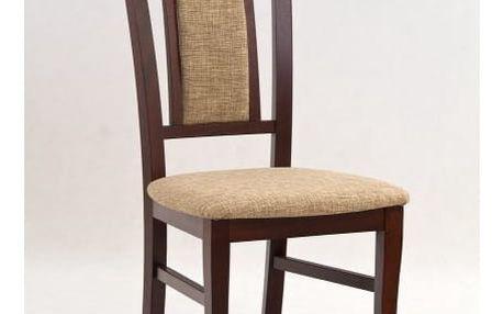 Dřevěná židle Konrad tmavý ořech