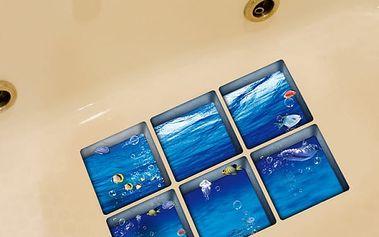 Protiskluzová samolepka do vany - Podmořský svět