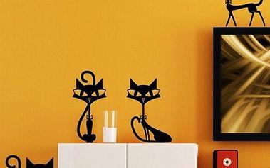 Samolepka na zeď - čtyři kočičky