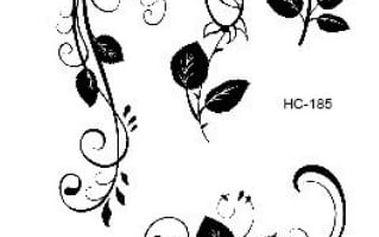 Dočasné tetování - Černé růže - dodání do 2 dnů