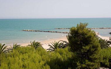Itálie, Cupra Marittima v sezóně: ubytování na 8 dní pro 1 osobu v apartmánu 100 m od pláže