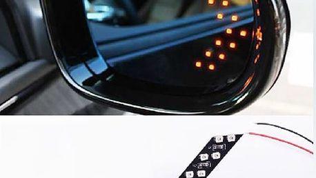 14 LED samolepící blinkry - 5 barev světla
