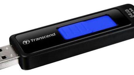 Transcend JetFlash 760 64GB, černo-modrá - TS64GJF760