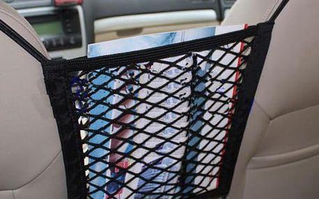 Síťový organizér mezi přední sedadla auta