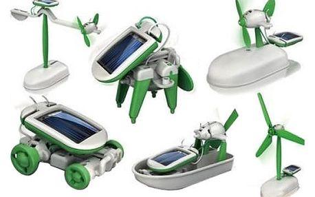 Solar bot 6 v 1 - interaktivní hračka na solární pohon - dodání do 2 dnů