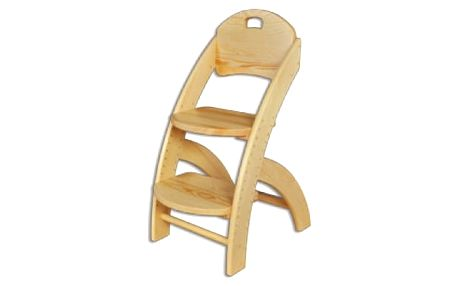 Dětská židle s nastavitelnou výškou KT201 masiv borovice