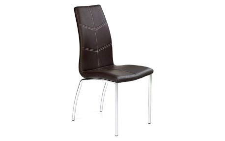Kovová židle K114 hnědá
