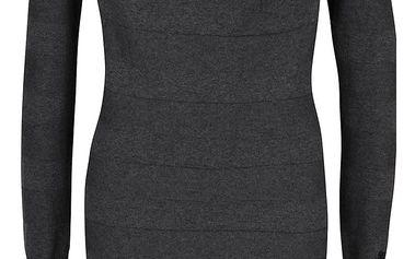 Šedé šaty s dlouhým rukávem Bench Declaredround