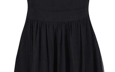 Černé šaty s krajkovým detailem VERO MODA Aya