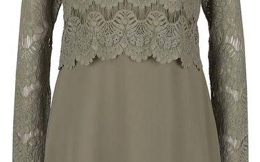 Khaki šaty s krajkovým topem VILA Melina