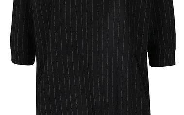 Černé volnější šaty s jemným vzorem Alchymi Freda
