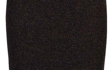 Černá sukně s vlákny ve zlaté barvě VILA Luo Square