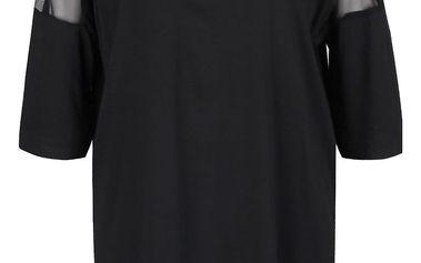 Černé šaty s průsvitnými detaily Alchymi Joya