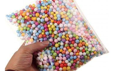 Sada dekoračních pěnových kuliček (8 mm) - různé barvy