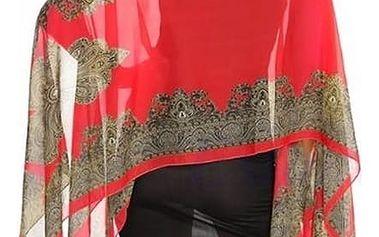 Šátek pashmina perfektně se hodí pro chladnější večery venku, nebo jako ideální jarní/podzimní šála.