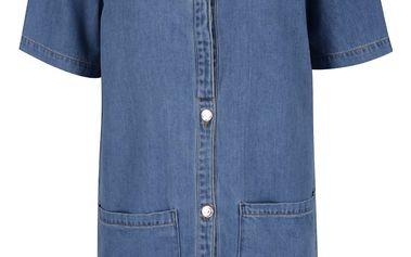 Modré džínové košilové šaty VERO MODA Gracie