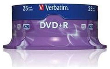 Verbatim DVD+R 16x, 25ks cakebox (43500)