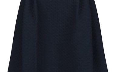 Tmavě modrá překládaná sukně s jemným plastickým vzorem VILA Mounta