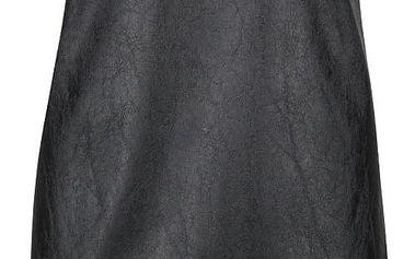 Černé koženkové šaty Alchymi Kaya