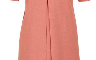Korálové volné šaty s krátkým rukávem Rich & Royal