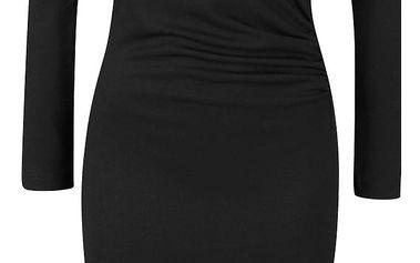 Černé šaty s dlouhým rukávem VERO MODA Mary