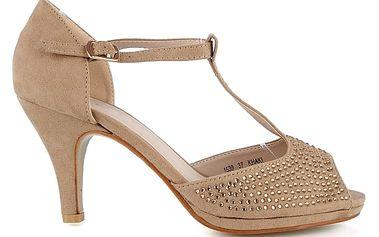Sandálky na podpatku 1539KH 37