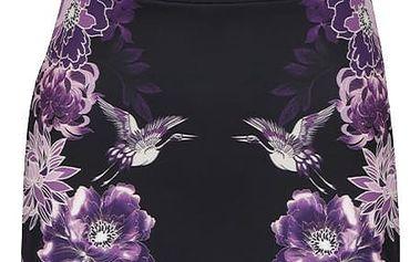 Fialovo-černé květované šaty bez rukávů Dorothy Perkins