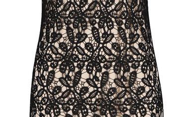 Černo béžové krajkové šaty VILA Pepe