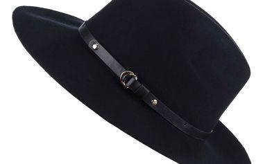 Tmavě modrý vlněný klobouk Pieces Daniella