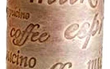 Dekorativní svíčka káva ve tvaru válce. Svíčka s jediněčnou vůní kávy pro její milovníky.