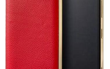 MOZO zadní kryt pro Lumia 950 Červená kůže