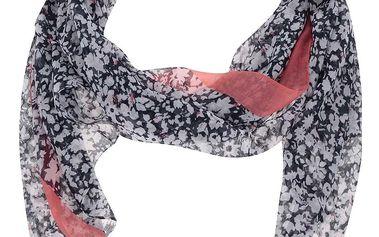Krémovo-modrý vzorovaný šátek Tom Joule Wensley